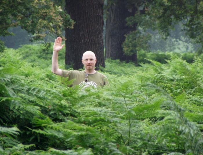 John Wynne in the woods_Photo credit John McAllister