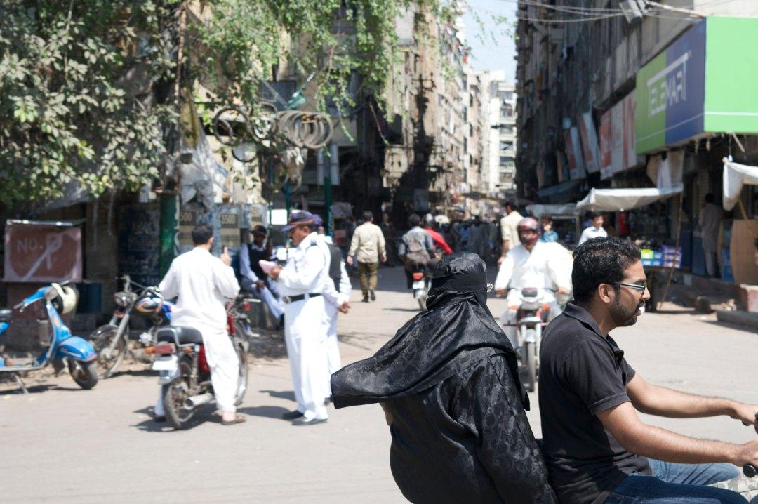 lady on bike policeman street copy